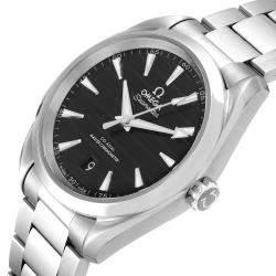 Omega Black Stainless Steel Seamaster Aqua Terra 220.10.38.20.01.001 Men's Wristwatch 38 MM