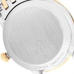 Omega MOP 18K Yellow Gold And Stainless Steel DeVille 424.20.33.20.05.001 Men's Wristwatch 32.7 MM