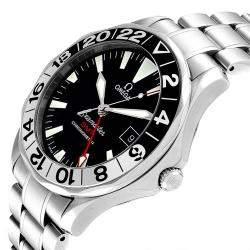 Omega Black Stainless Steel Seamaster GMT 2536.50.00 Men's Wristwatch 41 MM