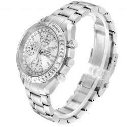 Omega Silver Stainless Steel Speedmaster Day Date 3523.30.00 Men's Wristwatch 38MM