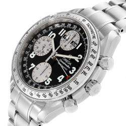 Omega Speedmaster Tripple Calendar Black Arabic Dial Watch 3523.51.00 Men's Wristwatch 40 MM
