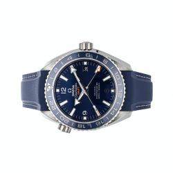 Omega Blue Titanium Seamaster Planet Ocean 600m Co-Axial GMT 232.92.44.22.03.001 Men's Wristwatch 43.5 MM