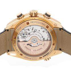 Omega Black 18K Rose Gold Seamaster Planet Ocean Chronograph 232.63.46.51.01.001 Men's Wristwatch 45.5 MM
