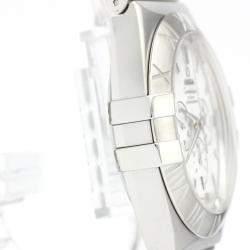 Omega White Stainless Steel Constellation Double Eagle Chronograph 1514.20 Men's Wristwatch 41 MM