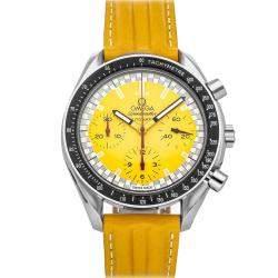 Omega Yellow Stainless Steel Speedmaster 3810.12.40 Men's Wristwatch 39 MM