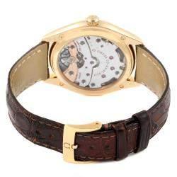 Omega Silver 18K Yellow Gold DeVille Tresor 432.53.40.21.02.001 Men's Wristwatch 40 MM