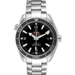 ساعة يد رجالية أوميغا بلانيت أوشن 232.30.42.21.01.001 سي ماستر ستانلس ستيل سوداء 42 مم