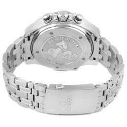 Omega Blue Stainless Steel Seamaster 300 GMT Chronograph 212.30.44.52.03.001 Men's Wristwatch 44 MM