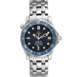Omega Blue Stainless Steel Seamaster 2551.80.00 Men's Wristwatch 36 MM