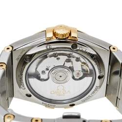 Omega 18K Yellow Gold & Stainless Steel Constellation Co-Axial Chronometer Men's Wristwatch 35 mm