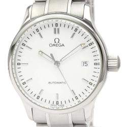 Omega Silver Stainless Steel Classic Automatic 5203.20 Men's Wristwatch 36 MM
