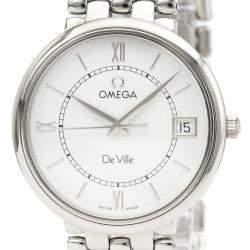 Omega Silver Stainless Steel De Ville Quartz 7514.31 Men's Wristwatch 32 MM