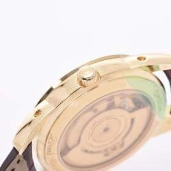 Omega White 18K Yellow Gold Louis Blanc Moonphase Triple Calendar 5341.30.12 Automatic Men's Wristwatch 34 MM