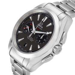 Omega Grey Stainless Steel Seamaster Aqua Terra GMT Chronograph 231.10.43.52.06.001 Men's Wristwatch 43 MM
