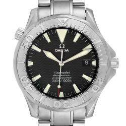Omega Black Stainless Steel Seamaster 300M 2230.50.00 Men's Wristwatch 40 MM