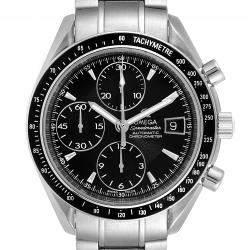 Omega Black Stainless Steel Speedmaster Chronograph 3210.50.00 Men's Wristwatch 40 MM