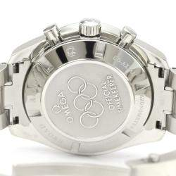 Omega Black Stainless Steel Speedmaster Olympic Games Collection 321.30.44.52.01.001 Men's Wristwatch 44MM