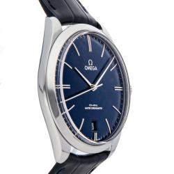 Omega Blue Stainless Steel De Ville Tresor 435.13.40.21.03.001 Men's Wristwatch 40 MM