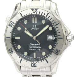 Omega Blue Stainless Steel Seamaster 2251.80 Automatic Men's Wristwatch 41 MM