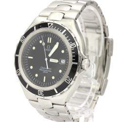 Omega Black Stainless Steel Seamaster 396.1062 Quartz Men's Wristwatch 38 MM
