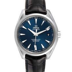 Omega Blue Stainless Steel Seamaster Aqua Terra 231.13.39.21.03.001 Men's Wristwatch 38.5 MM