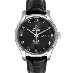 Omega Black Stainless Steel DeVille 431.13.41.22.01.001 Men's Wristwatch 41 MM