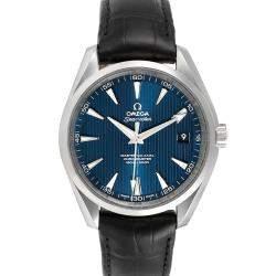 Omega Blue Stainless Steel Seamaster Aqua Terra 231.13.42.21.03.001 Men's Wristwatch 41.5 MM