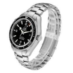 Omega Black Stainless Steel Seamaster Planet Ocean XL Co-Axial 2200.50.00 Men's Wristwatch 45.5 MM