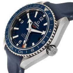 Omega Blue Stainless Steel Seamaster Planet Ocean GMT 600M 232.92.44.22.03.001 Men's Wristwatch 43.5 MM