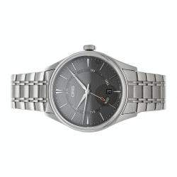 Oris Gray Stainless Steel Artelier Pointer Day Date 01 755 7742 4053-07 8 21 88 Men's Wristwatch 40 MM