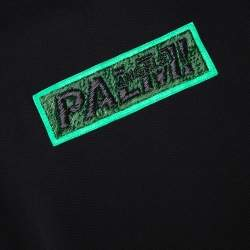 Palm Angels Black Cotton Metal Logo & Zip Detail Sweatshirt M