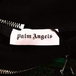 Palm Angels Black Cotton Metal Logo & Zip Detail Sweatshirt M