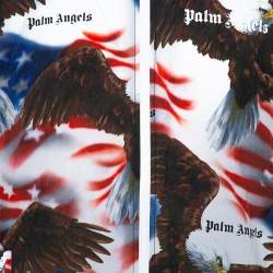 Palm Angels Multicolor Eagle and Flag Print Track Jacket XL