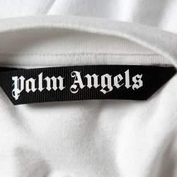 Palm Angels White Cotton Classic Logo Oversized T-Shirt XXL