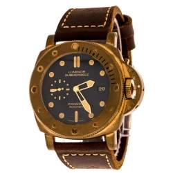 Panerai Blue Bronze Luminor Submersible 1950 3 Days Bronzo PAM00671 Men's Wristwatch 47 mm