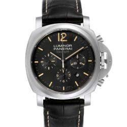 Panerai Black Stainless Steel Luminor Daylight Chronograph PAM00356 Men's Wristwatch 44 MM