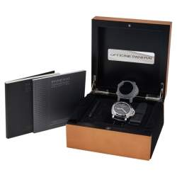 Panerai Black Stainless Steel Luminor 1950 GMT PAM00320 Men's Wristwatch 44 mm