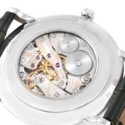Patek Philippe White 18K White Gold Calatrava Men's Wristwatch 36MM
