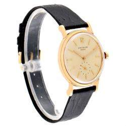 Patek Philippe Cream 18K  Yellow Gold Calatrava Vintage Automatic 3435 Men's Wristwatch 34 MM
