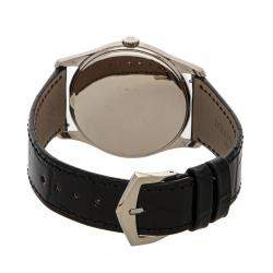 Patek Philippe Silver 18K White Gold Calatrava 5196G-001 Men's Wristwatch 37 MM