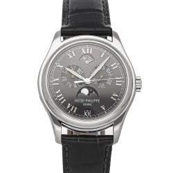 Patek Philippe Gray Platinum Complications Annual Calendar 5056P-001 Men's Wristwatch 37 MM