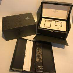 Patek Philippe Blue 18k White Gold Complications Calatrava Pilot Travel Time 5524G-001 Men's Wristwatch 42 MM
