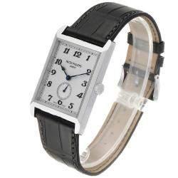 Patek Philippe Silver 18K White Gold Gondolo 5109 Men's Wristwatch 43 x 30 MM