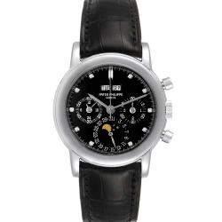 Patek Philippe Black Platinum Grand Complications Perpetual Calendar 3970 Men's Wristwatch 36 MM