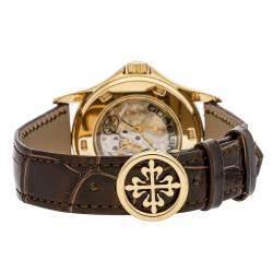 Patek Philippe Brown 18K Yellow Gold Complications Gubelin Annual Calendar 5134J-010 Men's Wristwatch 37 MM