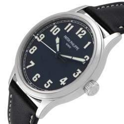 Patek Philippe Blue Stainless Steel Calatrava Pilot Limited Edition 5522A Men's Wristwatch 42 MM