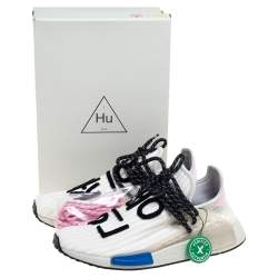 Pharrell Williams x Adidas Cream Knit Fabric NMD Hu Sneakers Size 41 1/3