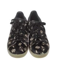 Adidas Stan Smith x Pharrell Williams Diamond Print Calf Hair Low Top Sneakers Size 42 2/3