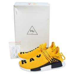 Pharrell Williams x Adidas Yellow Fabric Hu Race NMD sneakers Size 42