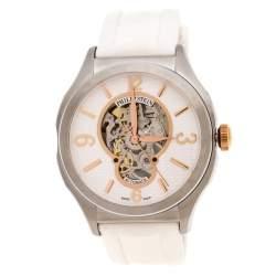 Philip Stein white Skeleton Stainless Steel Prestige Men's Wristwatch 45 mm